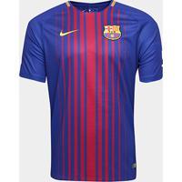 Netshoes  Camisa Barcelona Home 17 18 S Nº Torcedor Nike Masculina -  Masculino 24fe6a595022f