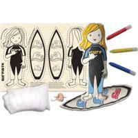 Boneca De Pano Surfista Alegria Sem Bateria Colorido