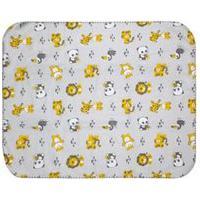 Cobertor Pequeno Bebê Cinza Safari - Bercinho - Tamanho Único - Cinza