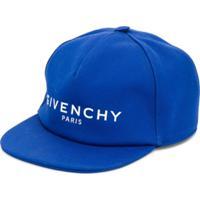 Givenchy Kids Boné Com Logo Bordado - Azul