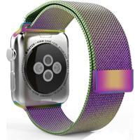 Pulseira Milanês Para Apple Watch 42Mm Aço Inoxidável Color Full