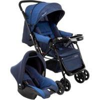 Carrinho De Bebê Com Bebê Conforto Cosco - 0 A 15Kg - Unissex-Azul