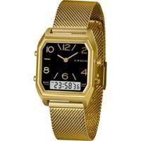 Relógio Lince Feminino Urban Anadigi - Feminino-Dourado
