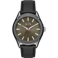 Relógio Armani Exchange Ax2806/Opn 43Mm Couro Masculino - Masculino-Preto