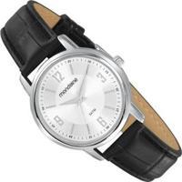 Relógio Analógico Mondaine - 83475L0Mvnh1 Feminino - Feminino-Prata+Preto