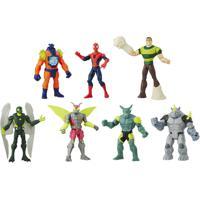 Conjunto Com 7 Mini Figuras - Marvel - Ultimate Spider-Man Vs Sinister 6 - Hasbro - Masculino-Incolor