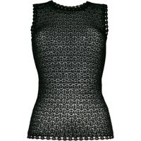 Dolce & Gabbana Blusa De Crochê - Preto