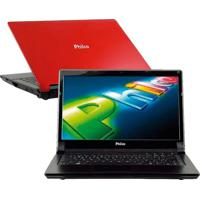 "Notebook Philco 14I-V724W8Sl - Amd C-60 - 2Gb Ram - 500Gb - Vermelho - Tela 14"" - Windows 8"