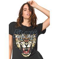 Blusa Ellus Jaguar Preta