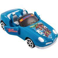 Carrinho Avengers®- Azul & Preto- 4,2X9X14,2Cm- Etilux