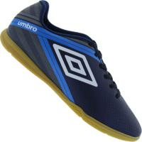 Chuteira Futsal Umbro Drako Ic - Adulto - Azul Esc/Cinza