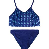 Duskii Girl Biquíni 2 Peças Com Estampa - Azul