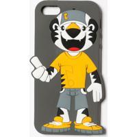 Case Iphone 5/5S Com Tigor® - Cinza Escuro & Amarelalilica Ripilica E Tigor T. Tigre