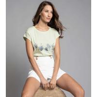 T-Shirt Com Bordado Verde Preludio - Lez A Lez