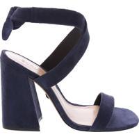 Sandália Nobuck Lace-Up Blue   Schutz