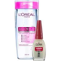 Kit Tônico De Limpeza Facial 5 Em 1 L'Oréal 200Ml Ganhe Esmalte Colorama Base Setim 8Ml