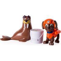 Mini Figuras - Pack De Resgate Amigo - Patrulha Canina - Zuma E Wally - Sunny - Unissex-Incolor