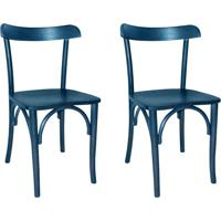 Conjunto Com 2 Cadeiras De Cozinha Laura Azul