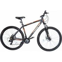 Bicicleta Trinx Sti 2.0 Aro 29 Freio/Disc Susp 24V Kit Shimano Preto Com Laranja - Unissex