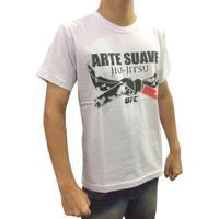 Camisa Camiseta Jiu Jitsu Arte Suave Ufc - Masculino-Branco