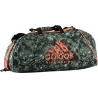 Bolsa Com Alça De Ombro Adidas Kick Boxing Essential Camou 50L - Unissex-Verde+Laranja