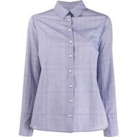 Ba&Sh Camisa Mael Xadrez - Azul