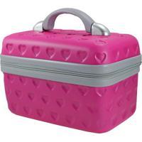 Frasqueira Love- Pink & Cinza- 23X29X17Cm- Jackijacki Design