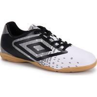 Chuteira Futsal Masculina Umbro Flux - Bco/Pto