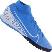 Chuteira Futsal Nike Mercurial Superfly 7 Academy Ic - Adulto - Azul Cla/Branco