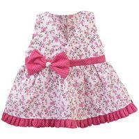 Vestido Padroeira Baby Floral Rosa