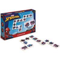 Jogo Domino Spiderman Ultimate Xalingo - Azul - Dafiti