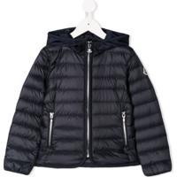 Moncler Kids Hooded Padded Jacket - Azul