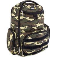 Mochila Backpack Delta Green Army - Verde Militar & Pretbebã© Confort