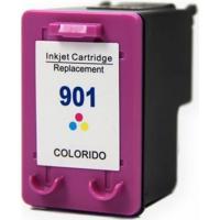 Cartucho Tinta Compatível Hp901 Para Officejet Colorido 13Ml