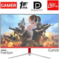 Monitor Gamer Led Curvo 24 1Ms 165Hz Hq 24Ghq-White Rgb R3000 Freesync Hdmi Display Port Branco