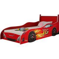 Cama Infantil Carro Fast Vermelha