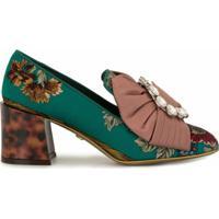 Dolce & Gabbana Sapato Jackie Com Laço E Aplicações - Verde