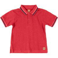 Camisa Infantil Polo Piquet Vermelho