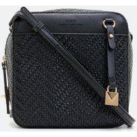 Bolsa Transversal Em Tresse Camera Bag | Satinato | Preto | U