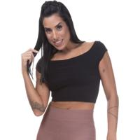 Blusa Cropped Balada Miss Blessed Preto