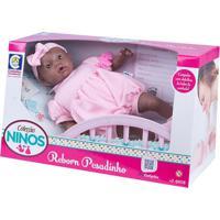 Boneca Ninos Reborn Negro Pesadinho - Cotiplás