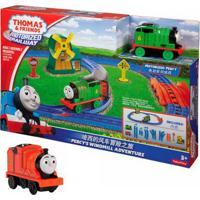 Kit Playset E Mini Veículos - Thomas & Friends - Percy E O Moinho De Vento Com James - Fisher-Price