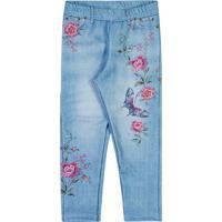 Legging Floral- Azul Claro & Rosa- Lecimarlecimar