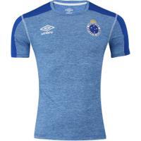 Camisa Do Cruzeiro Aquecimento 2019 Umbro - Masculina - Azul