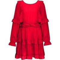 Vestido Skinbiquini Babados Feminino - Feminino-Vermelho