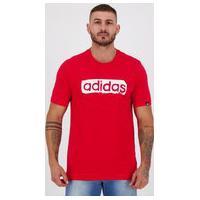Camiseta Adidas Estampada Linear Vermelha