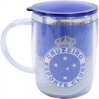 Caneca Térmica Com Tampa 450Ml Cruzeiro - Unissex-Azul