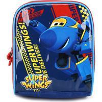 Lancheira Infantil Luxcel Super Wings - Masculino-Azul