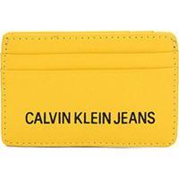 Carteira Porta Cartão Couro Calvin Klein Logo - Masculino