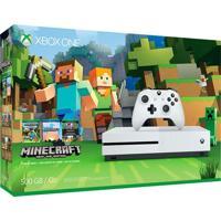 Console Xbox One S 500Gb Branco Bundle Jogo Minecraft